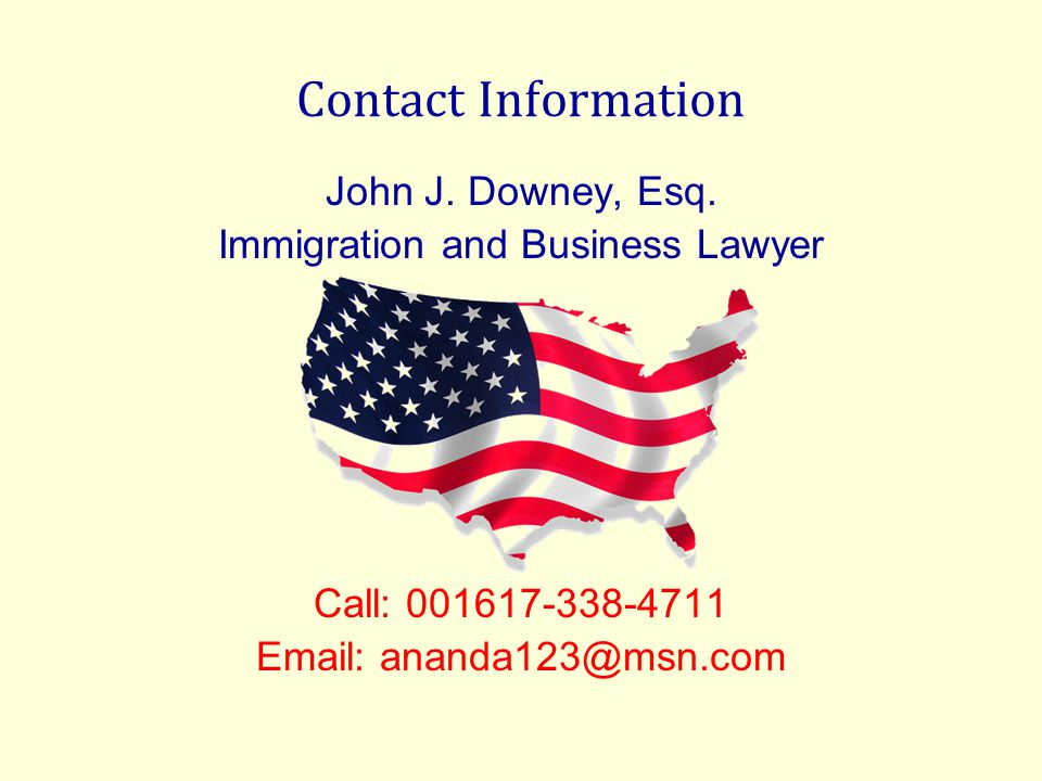 Contact Information John J. Downey, Esq.