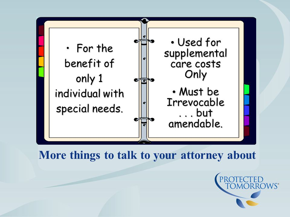 Things to talk to your attorney about