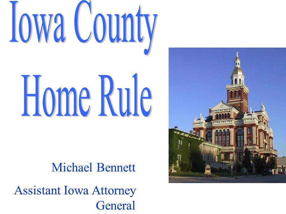 Michael Bennett Assistant Iowa Attorney General