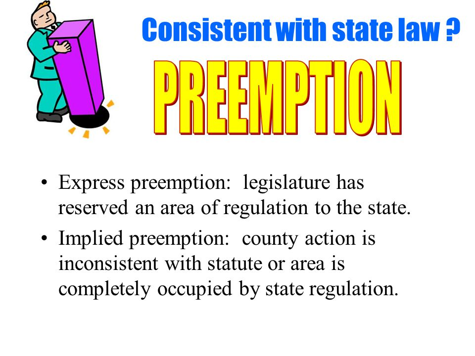Consistent with state law .