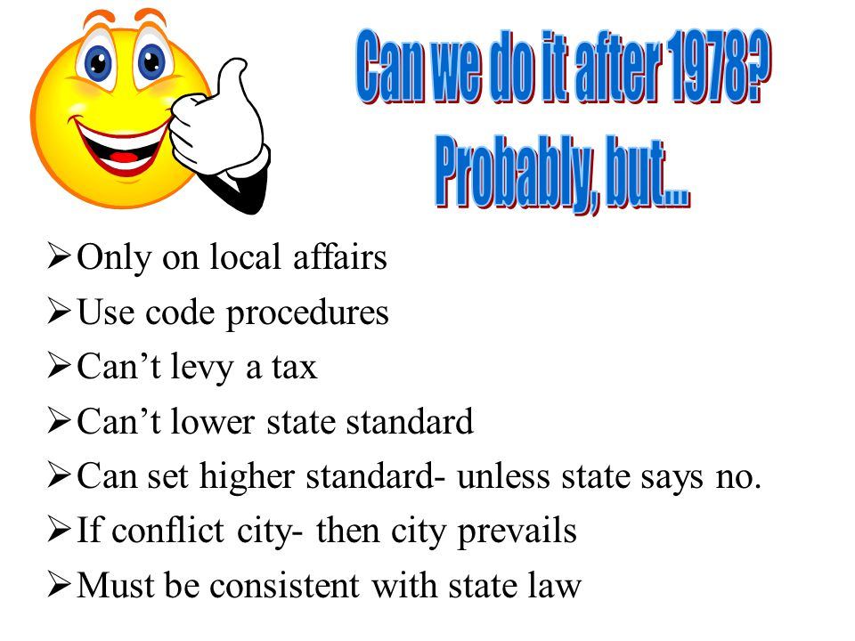 Implied Field Preemption Clear legislative expression – to preempt local regulation or – to have uniform regulations.