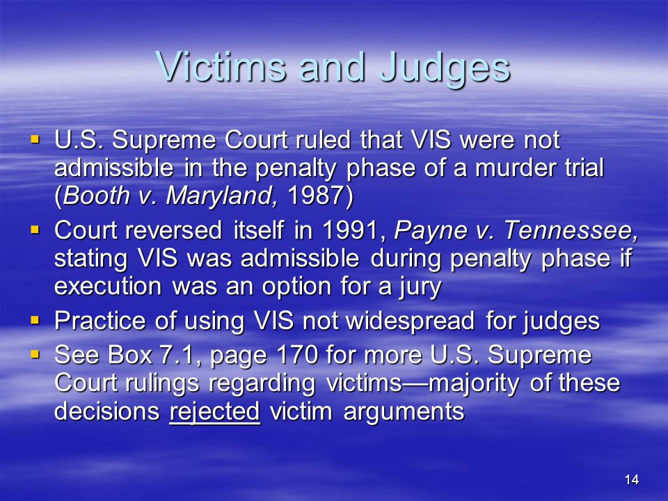 14 Victims and Judges  U.S.