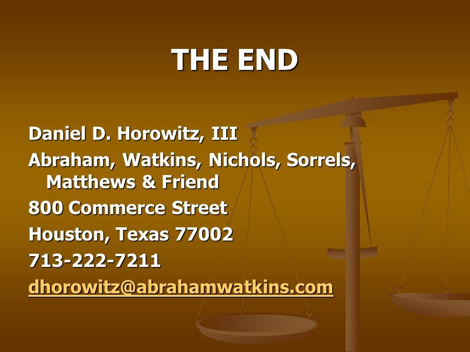 THE END Daniel D.
