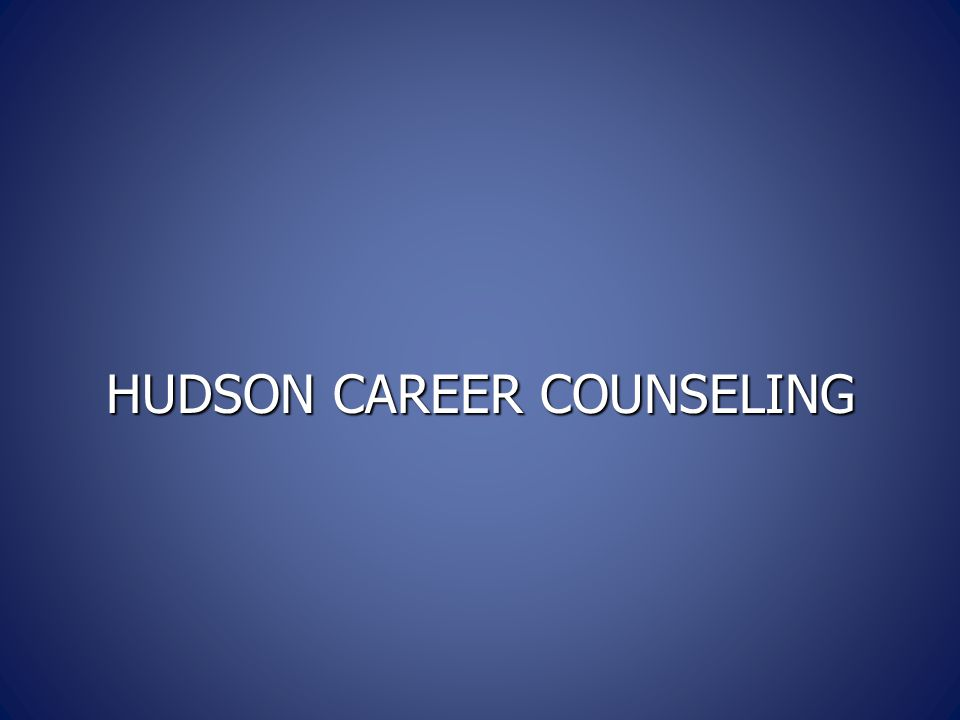 HUDSON CAREER COUNSELING