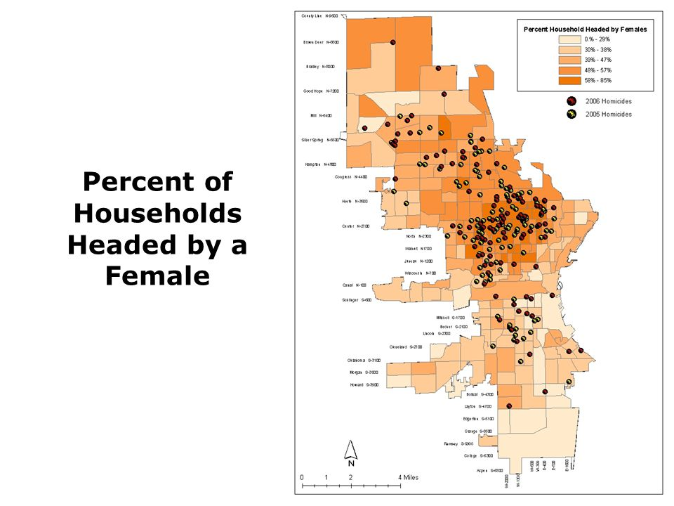 Percent of Households Headed by a Female