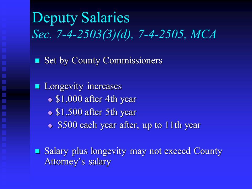 Deputy Salaries Sec.