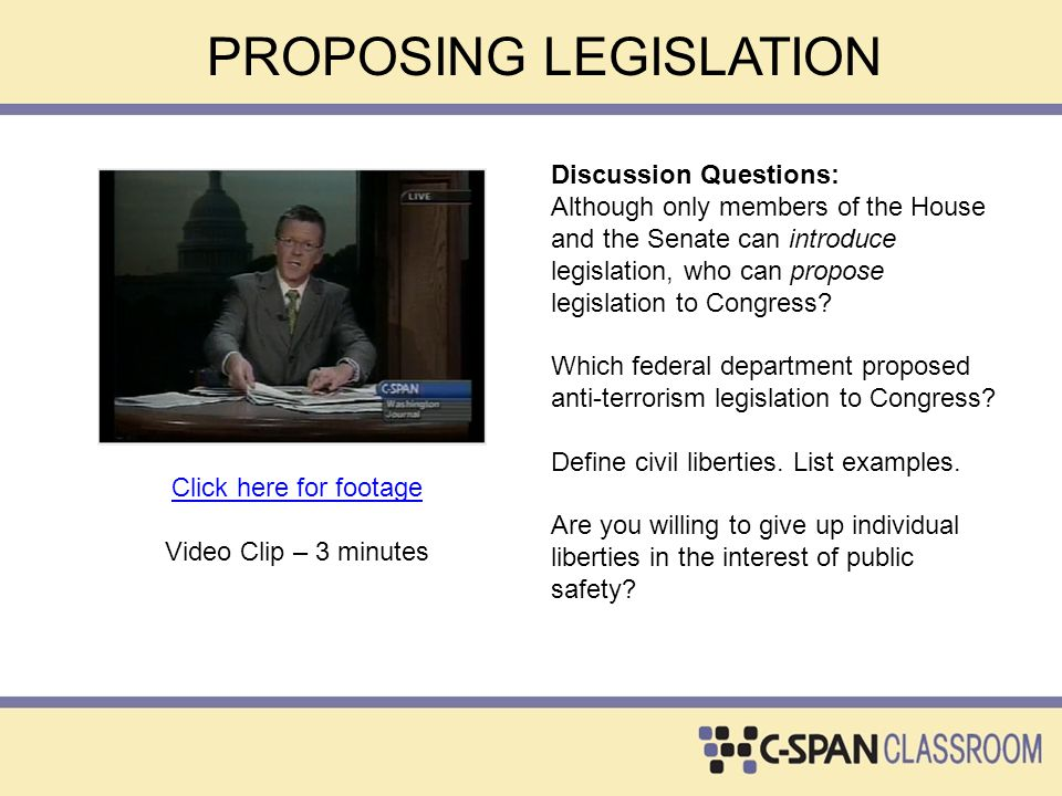 FLOOR ACTION IN THE SENATE Discussion Question: What were Senator Feingold's objections to the bill.