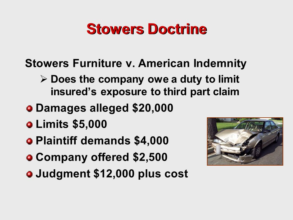 Stowers Doctrine Stowers Furniture v.