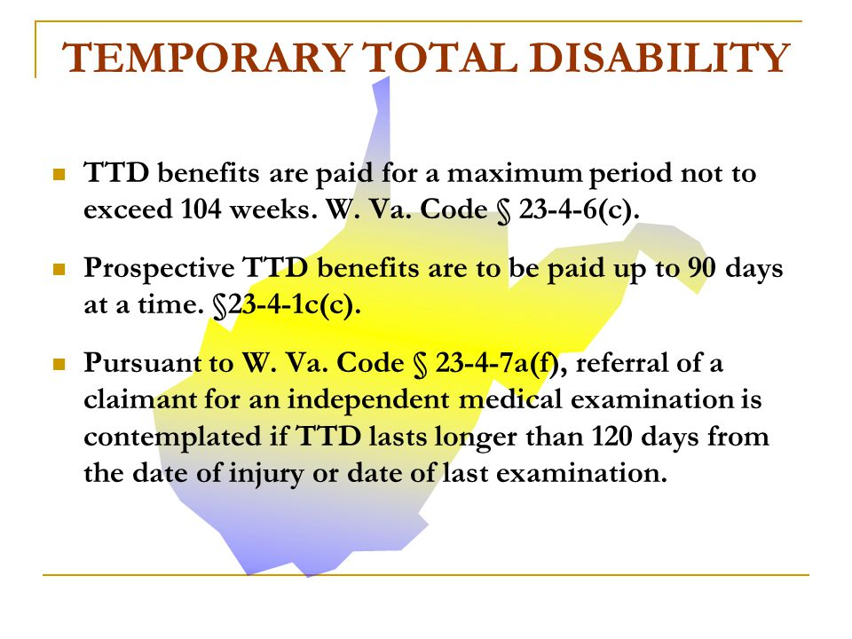 Temporary total disability (TTD) benefits are granted during the healing and recovery period after a compensable injury.