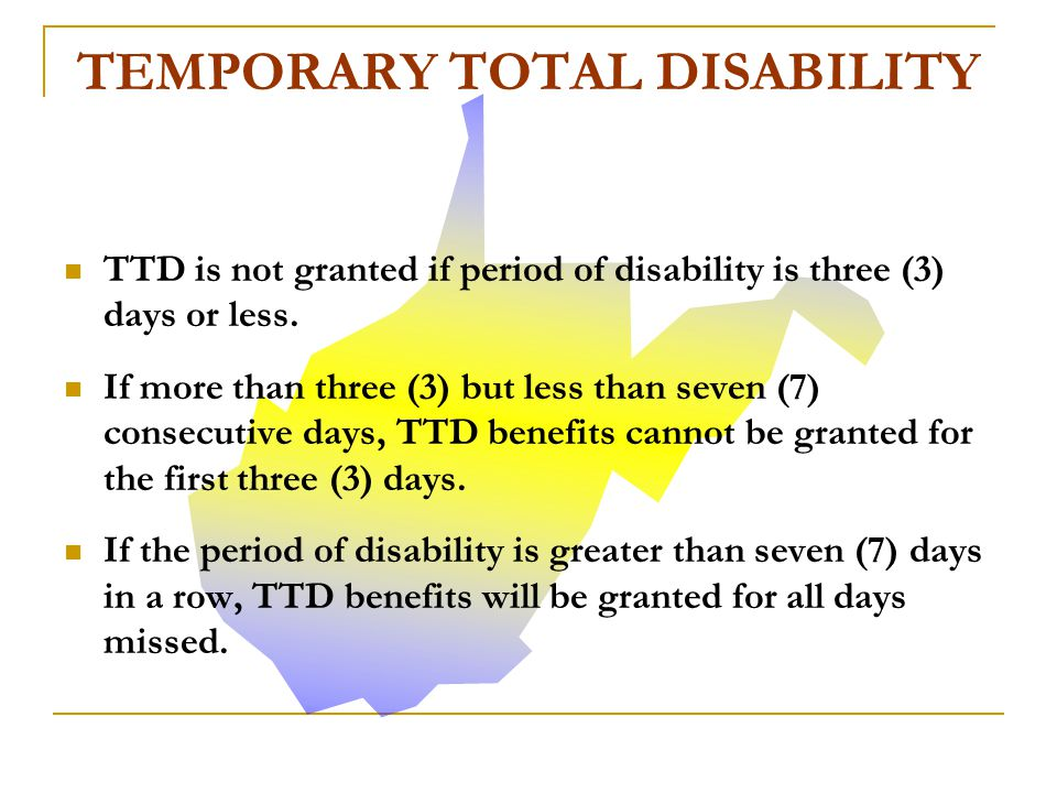 TTD benefits are paid for a maximum period not to exceed 104 weeks.