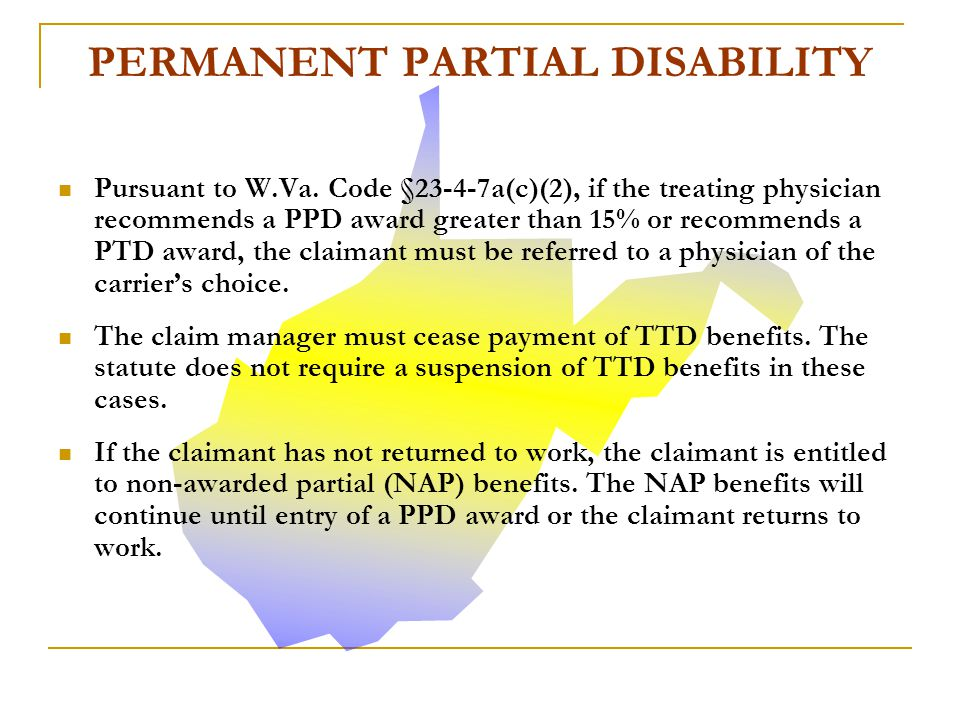W.Va. Code § 23-4-7a(e) sets forth the criteria necessary to suspend the payment of TTD benefits.