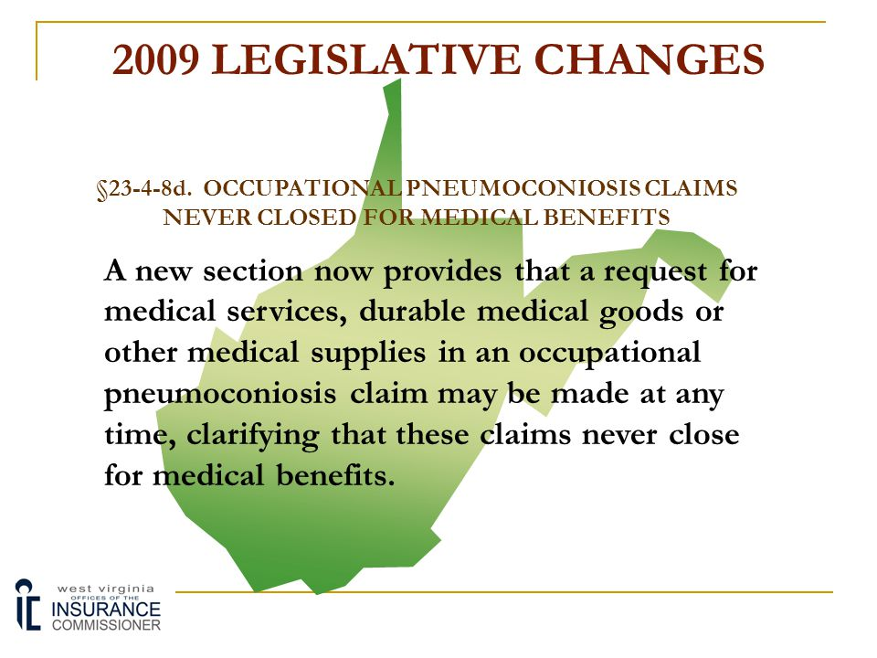 2009 LEGISLATIVE CHANGES §23-4-8.