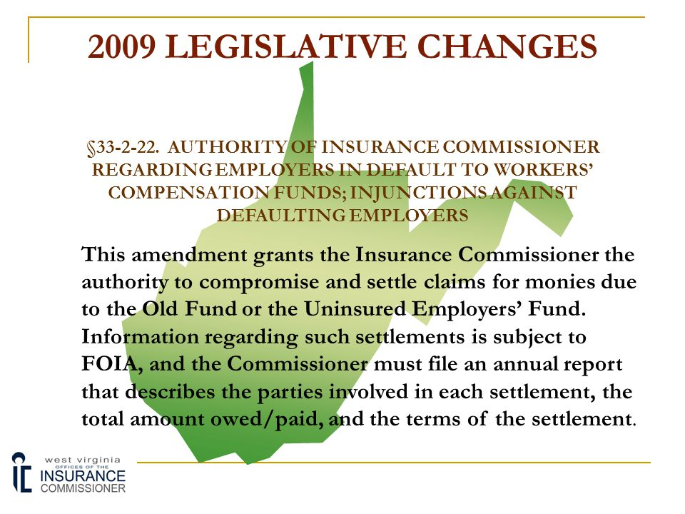 2009 LEGISLATIVE CHANGES §23-5-16.