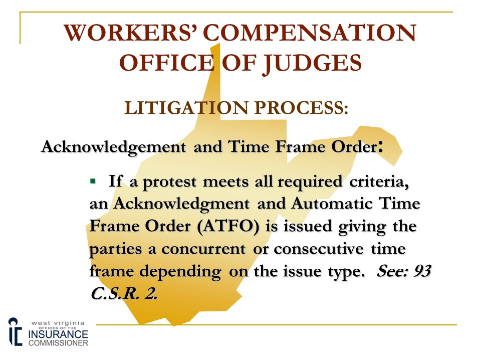LITIGATION PROCESS: Upon Receipt of a Protest OOJ Reviews for Following:  Has the protesting party included a copy of the claim administrator's order with the protest.