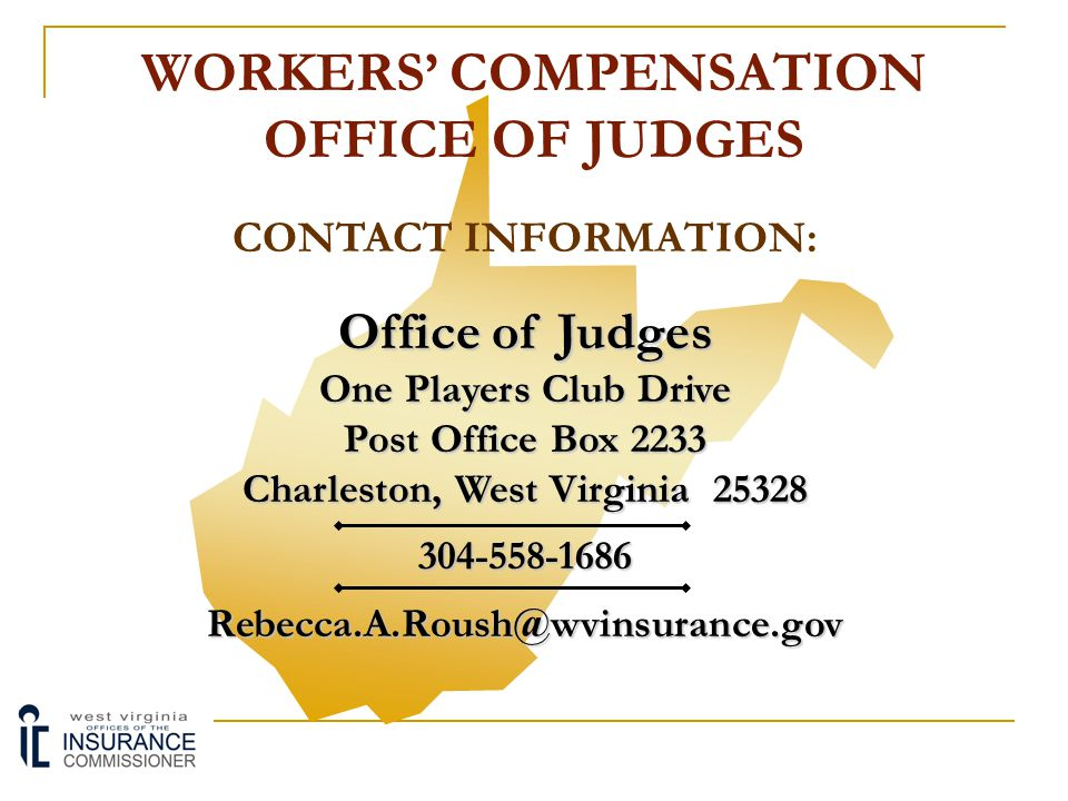 WORKERS' COMPENSATION OFFICE OF JUDGES MEDIATION PROGRAM:  Parties may request mediation services from the OOJ at any time.  The OOJ also has the au