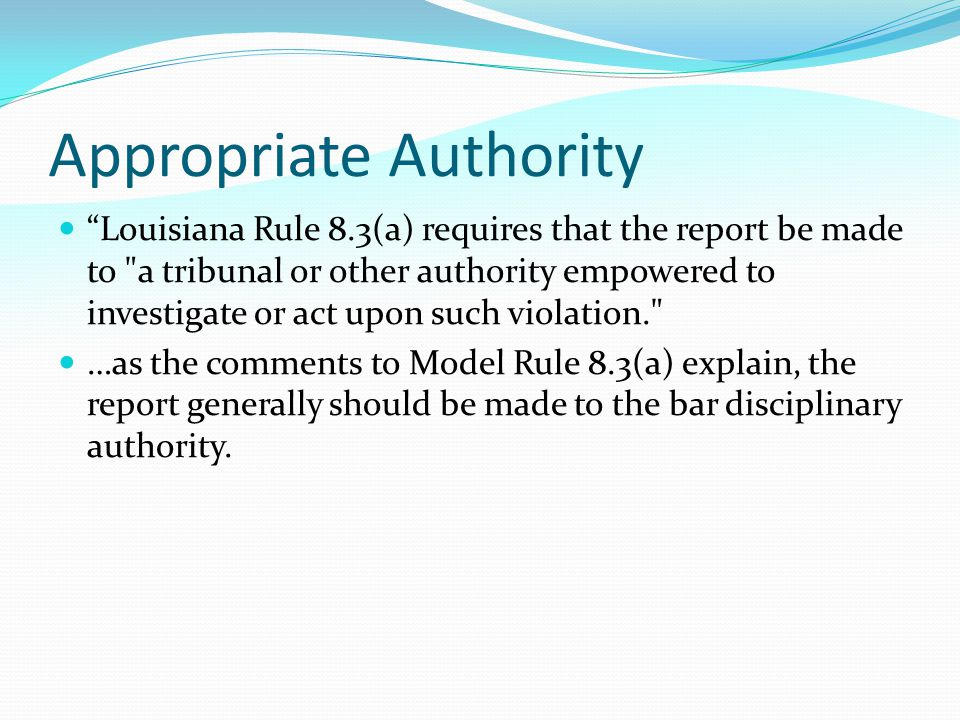 When to Report Once the lawyer decides that a reportable offense has likely occurred, reporting should be made promptly. … …. This purpose is not serv