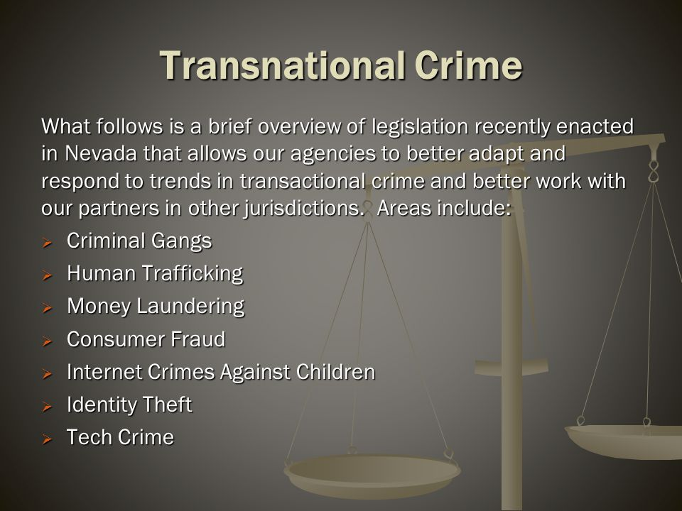Criminal Gangs Senate Bill 142 (2009 Session) – Creates crime of criminal gang recruitment: unlawful for an adult to use or threaten to use physical violence, or cause or threaten to cause damage to property, with the specific intent to coerce, induce or solicit a child to join a criminal gang – category E felony [ NRS 201.570].