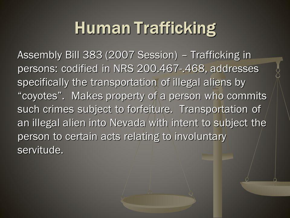 Internet Crimes Against Children Senate Bill 163 (2009 Session) – Revises NRS 388.135 to prohibit cyber-bullying.