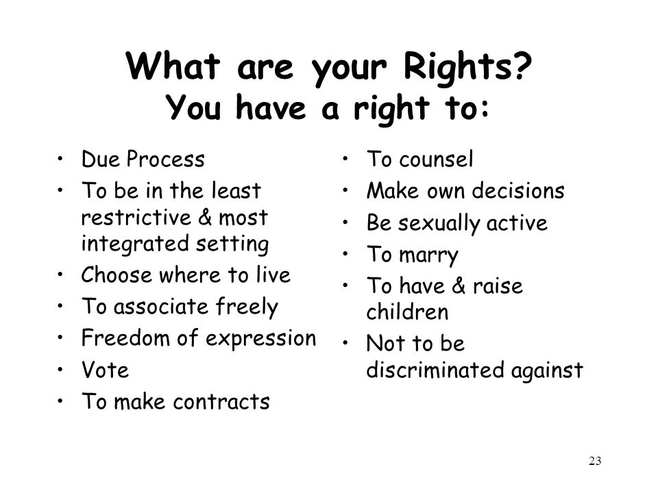 23 What are your Rights.