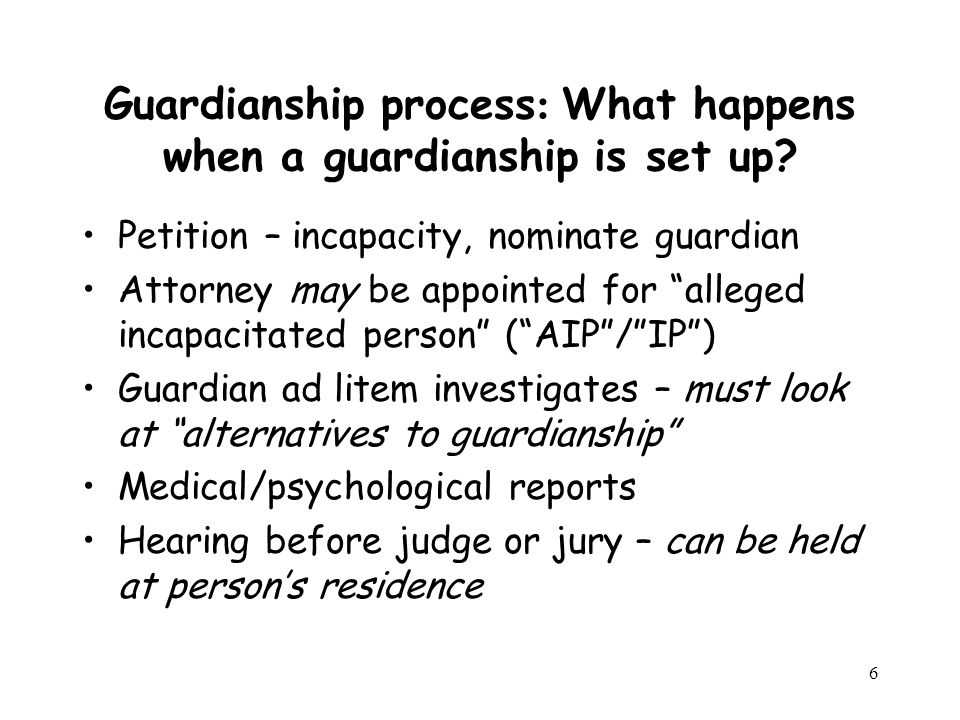 17 What are the alternatives to Guardianship.