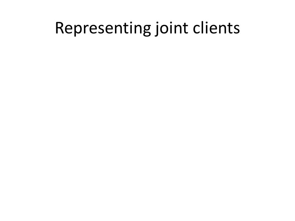 Representing joint clients