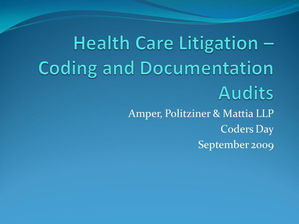 Amper, Politziner & Mattia LLP Coders Day September 2009