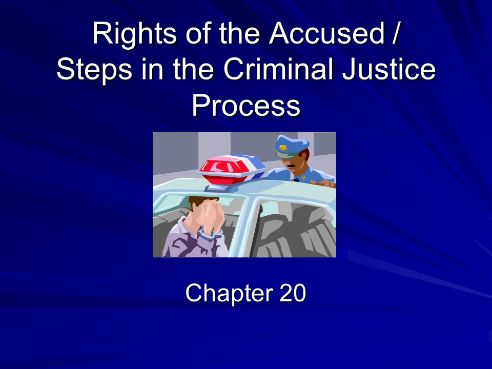 Rights of the Accused / Steps in the Criminal Justice Process Chapter 20