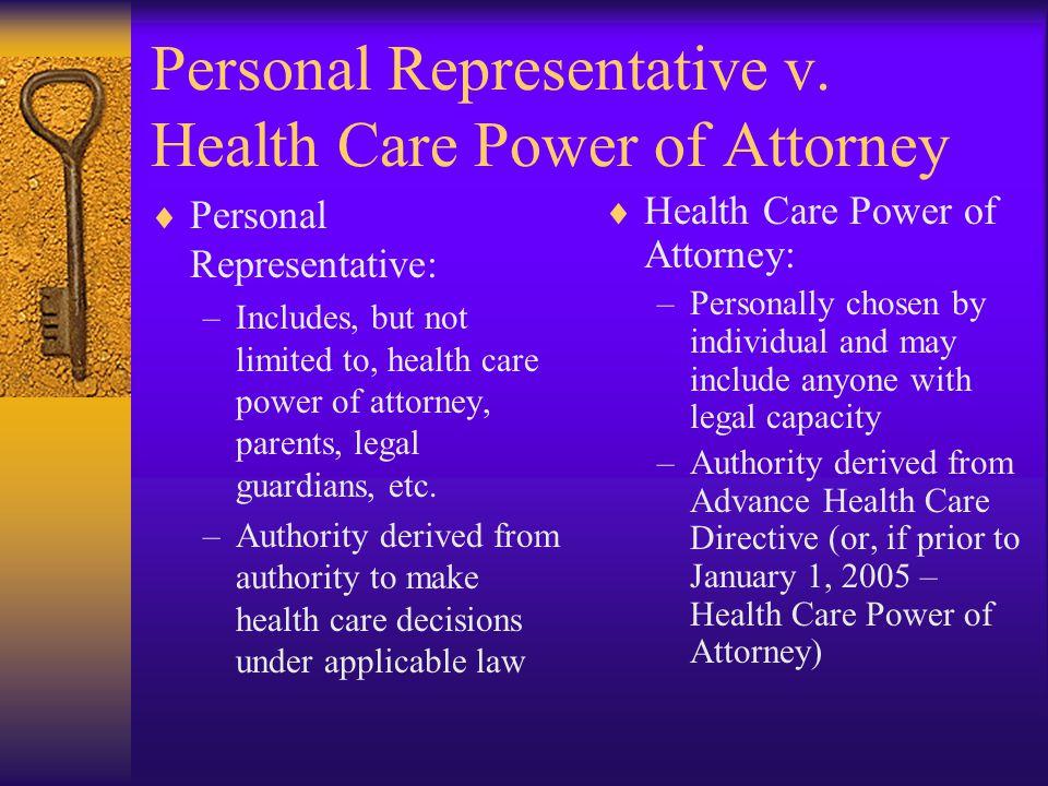Personal Representative v.