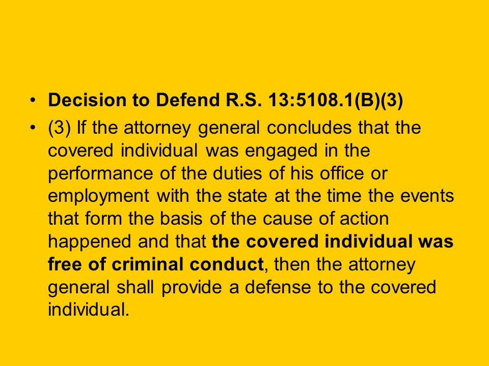 Decision to Defend R.S.