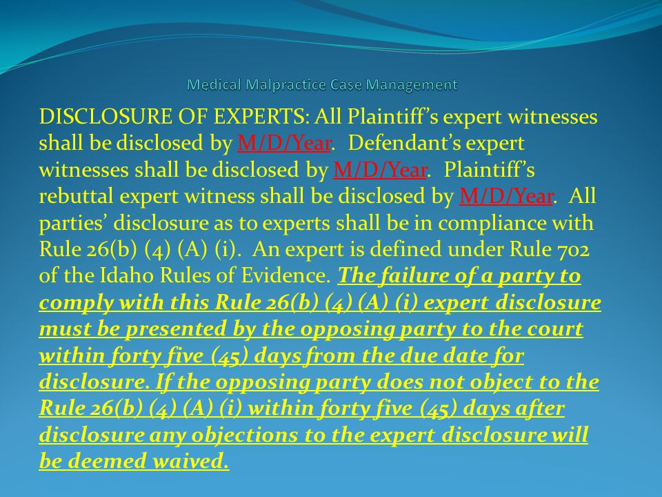 Idaho Rule of Evidence 611 provides that: (a) Control by Court.