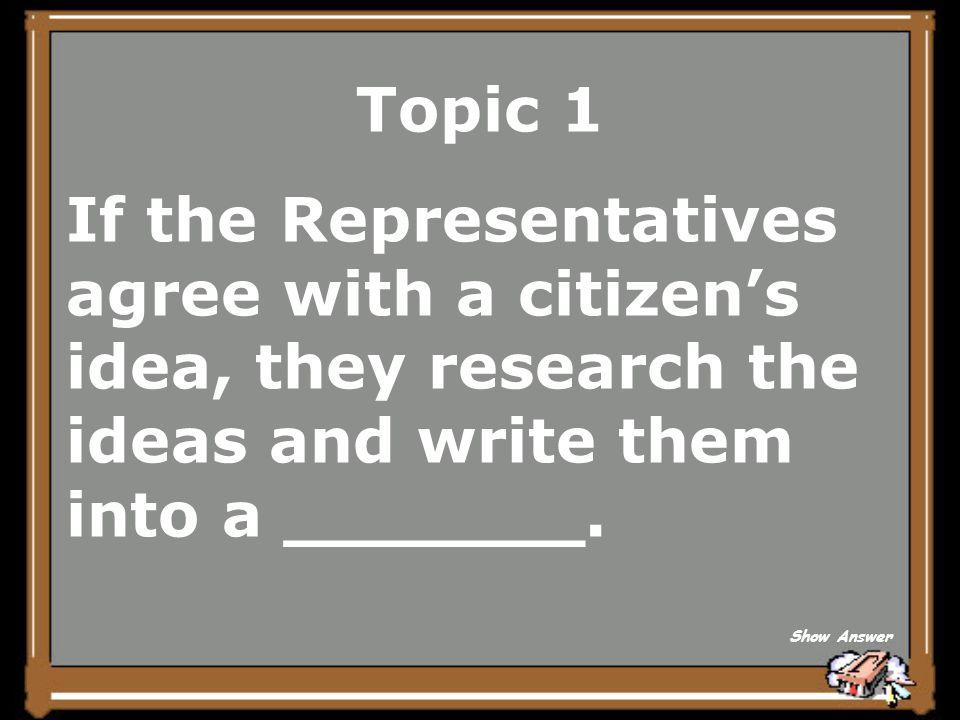 Topic 1 idea Back to Board