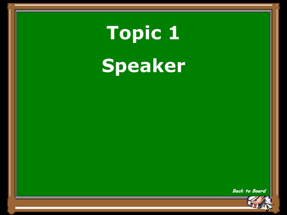 Topic 1 ________of the House sends the bill to one of the House standing committees Show Answer