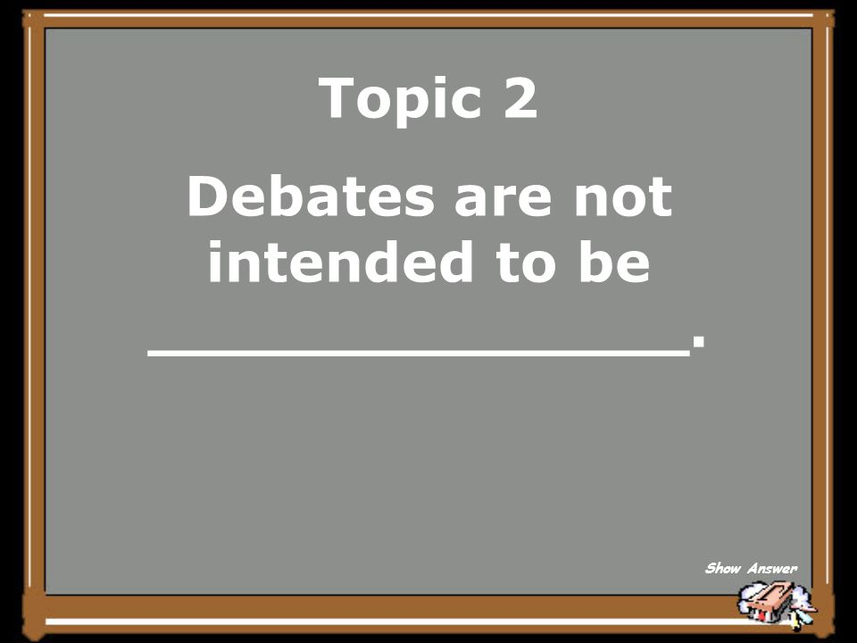 Topic 2 speaking Back to Board