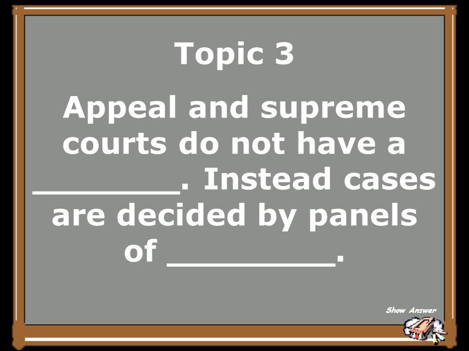 Topic 3 Federal Back to Board