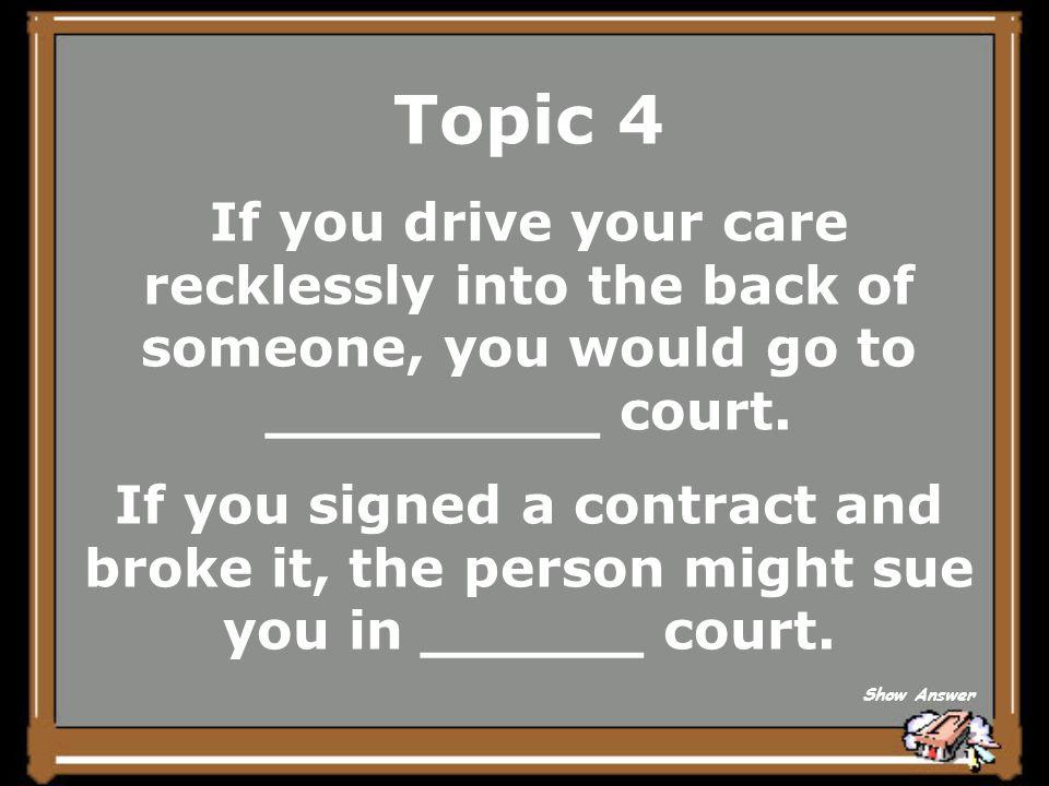 Topic 4 Civil Back to Board