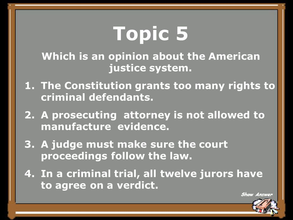 Topic 5 Evidence or proof Back to Board