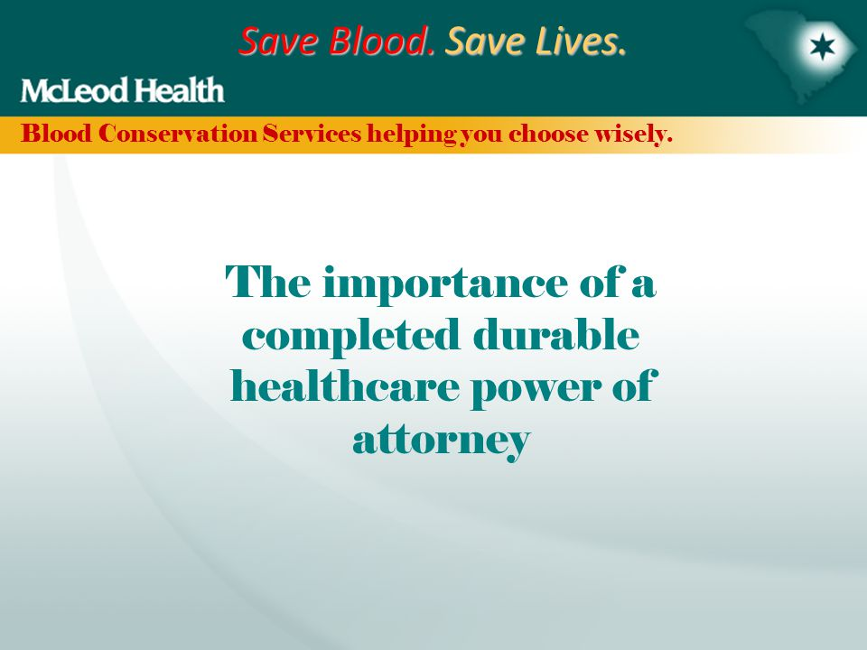 Save Blood.Save Lives. RECAP What therapies are used for elective surgery.