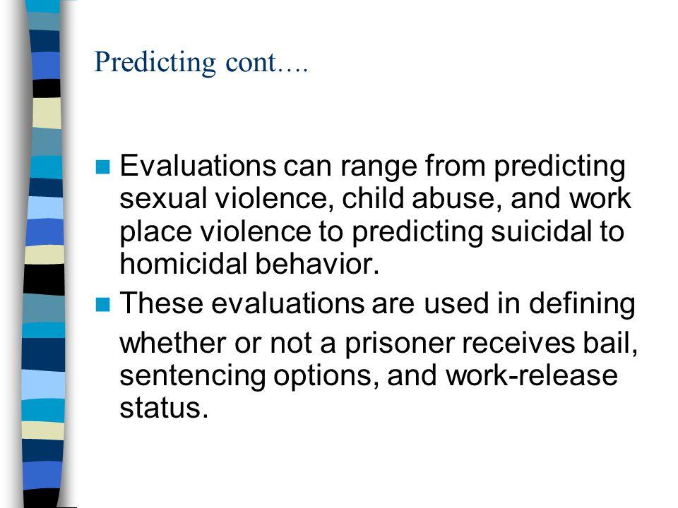 Predicting cont ….