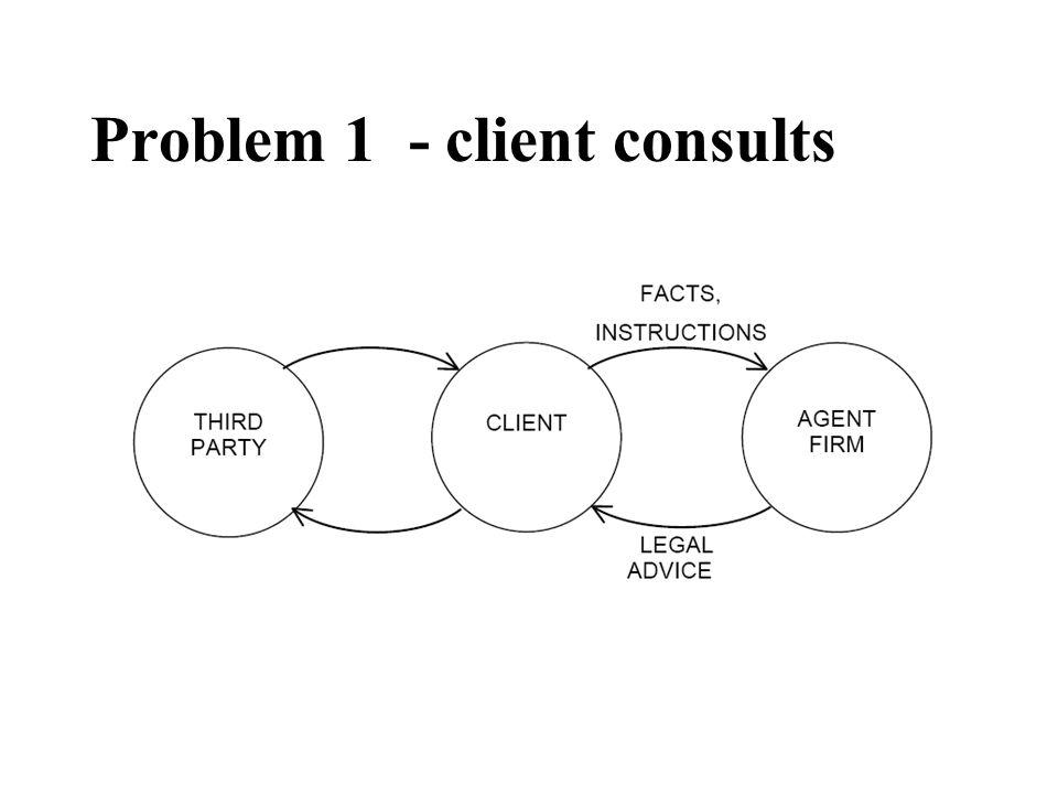 Problem 1 - client consults