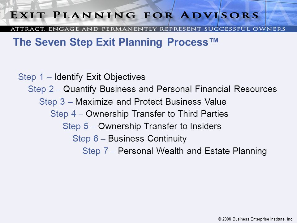 © 2008 Business Enterprise Institute, Inc.