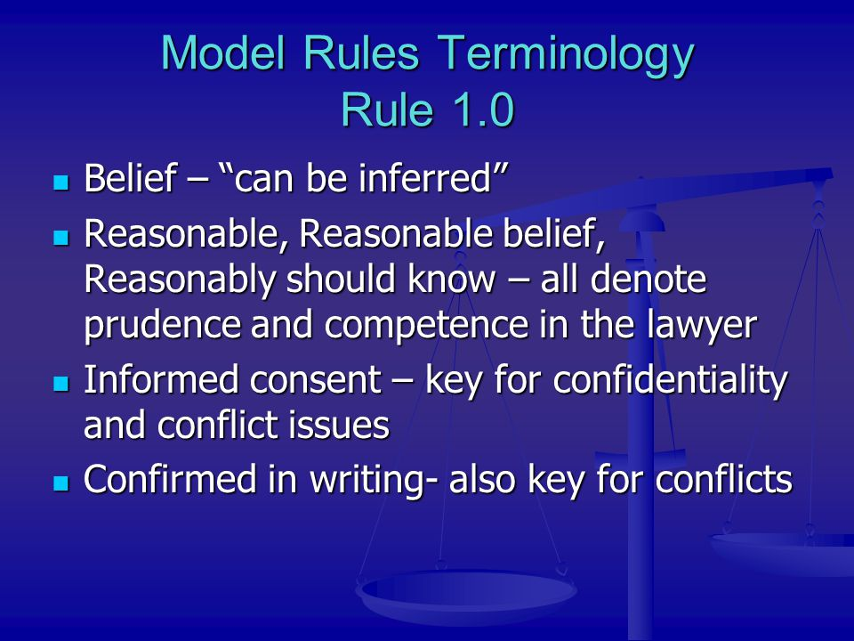 Candor and Fairness – Rules 3.3 & 3.4 Candor to Tribunal – Rule 3.3 – A lawyer: Will not make or fail to correct a false statement of law or fact Will not make or fail to correct a false statement of law or fact Must disclose controlling legal authority directly adverse to the attorney's position Must disclose controlling legal authority directly adverse to the attorney's position Must take remedial measures to correct criminal or fraudulent activities relating to pending litigation involving the lawyer Must take remedial measures to correct criminal or fraudulent activities relating to pending litigation involving the lawyer Fairness to Opposition – Rule 3.4 - A lawyer: Will not unlawfully obstruct access to evidence Will not unlawfully obstruct access to evidence Will not falsify evidence or instruct another to do so Will not falsify evidence or instruct another to do so Will not disobey an order of a court Will not disobey an order of a court Etc.