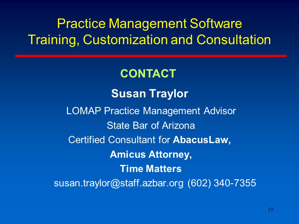 20 Demonstration of Three Leading, traditional Practice Management Software Abacus Law Amicus Attorney Time Matters