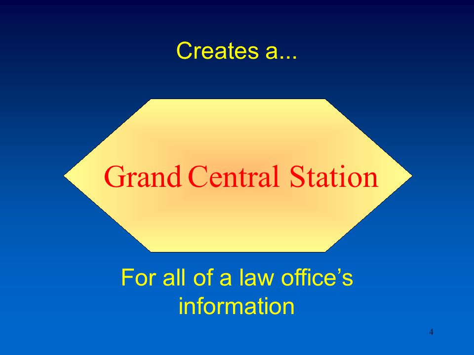 4 Creates a... For all of a law office's information Grand Central Station