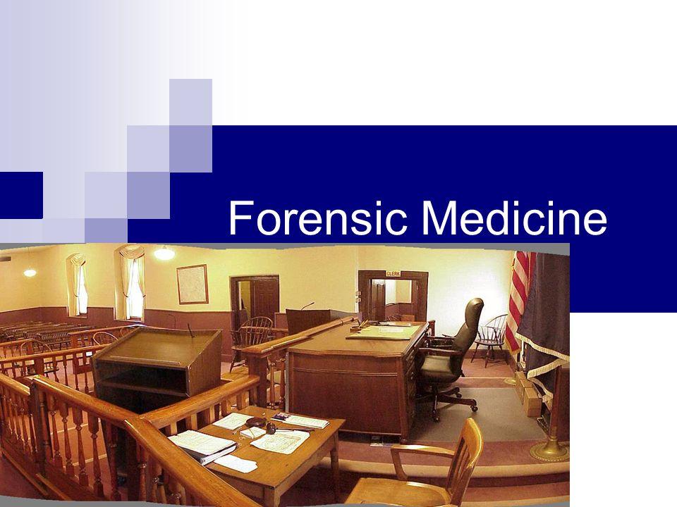Forensic Medicine Dr. Jeff Ricken, C.S.I.