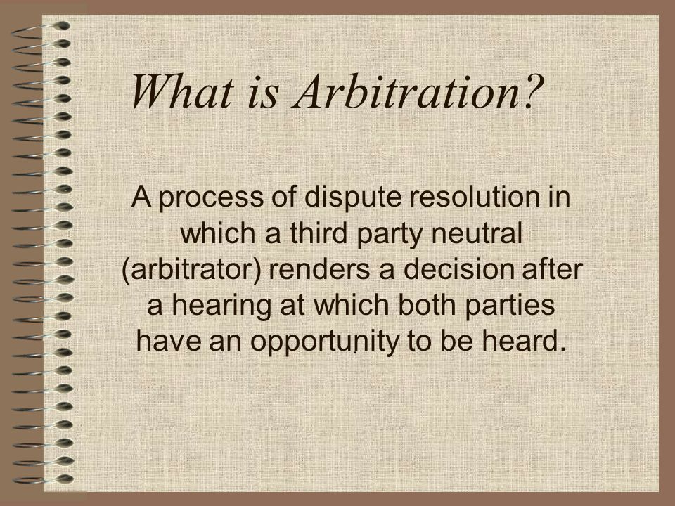 What can an Arbitrator do.An Arbitrator is empowered only to resolve the issues submitted.