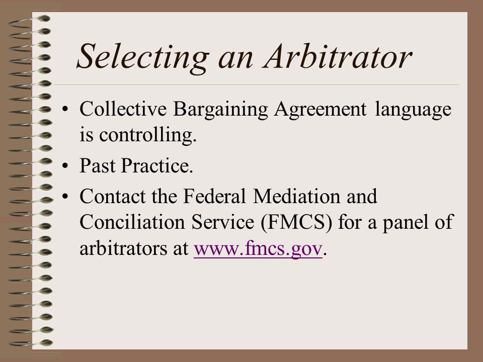 Exceptions to arbitration awards.