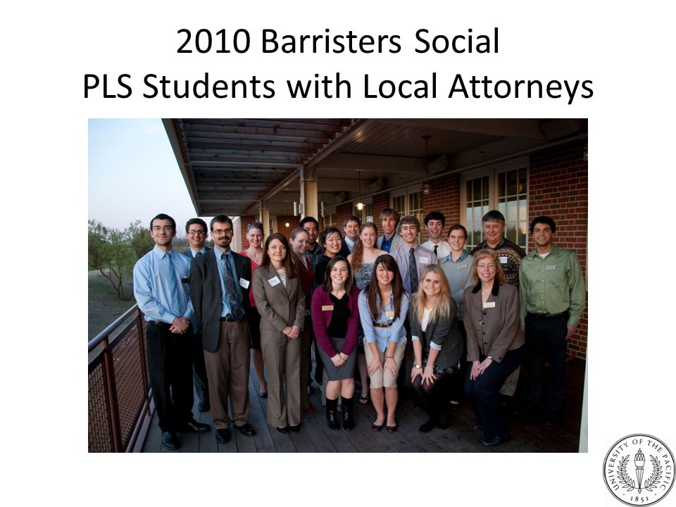 2010 Barristers Social PLS Students with Local Attorneys