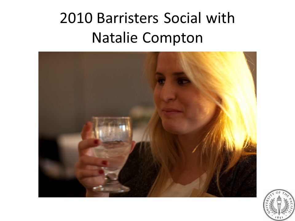 2010 Barristers Social with Natalie Compton
