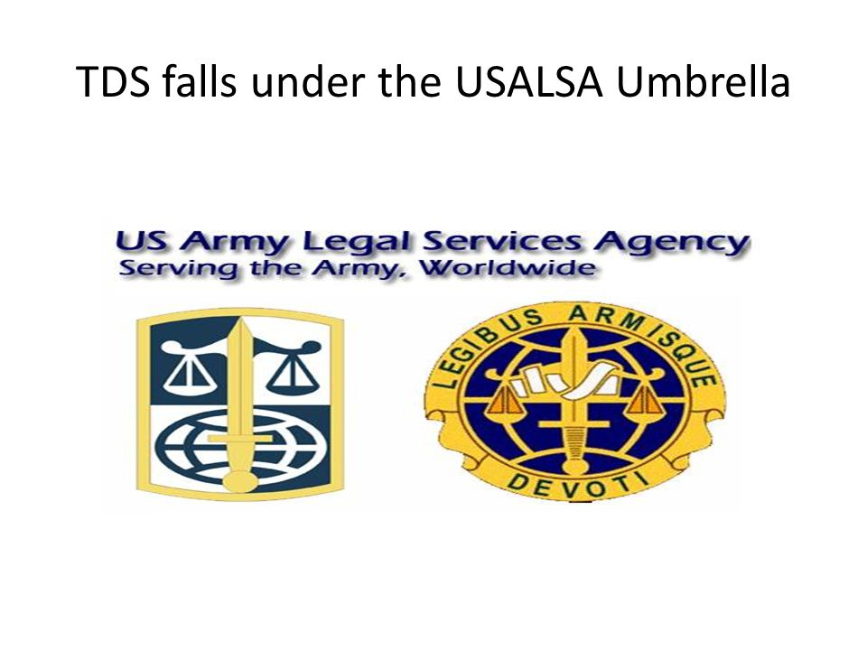 TDS falls under the USALSA Umbrella
