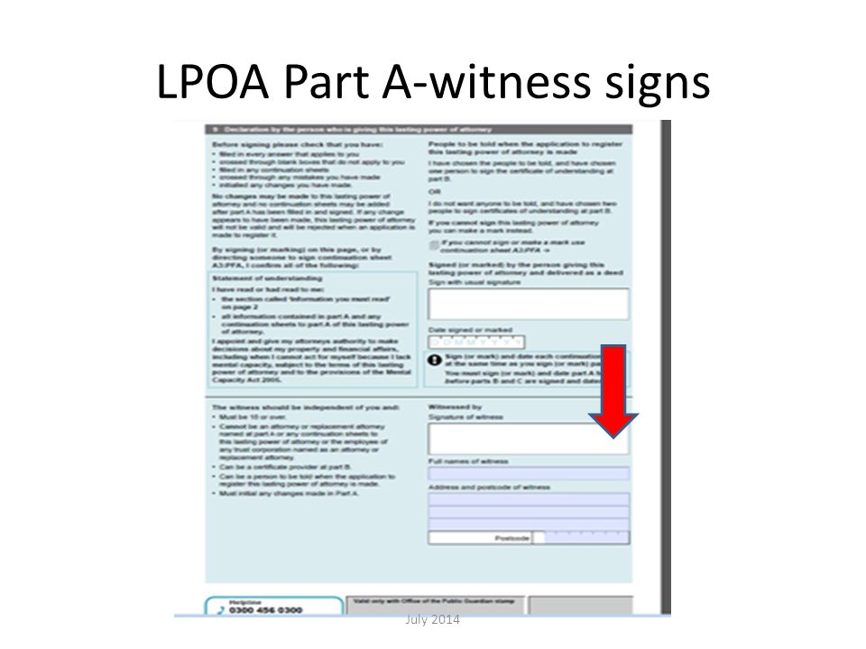 LPOA Part A-witness signs July 2014